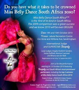 Miss Belly Dance 2010 265x300 Are YOU Miss Belly Dance SA 2010..!?