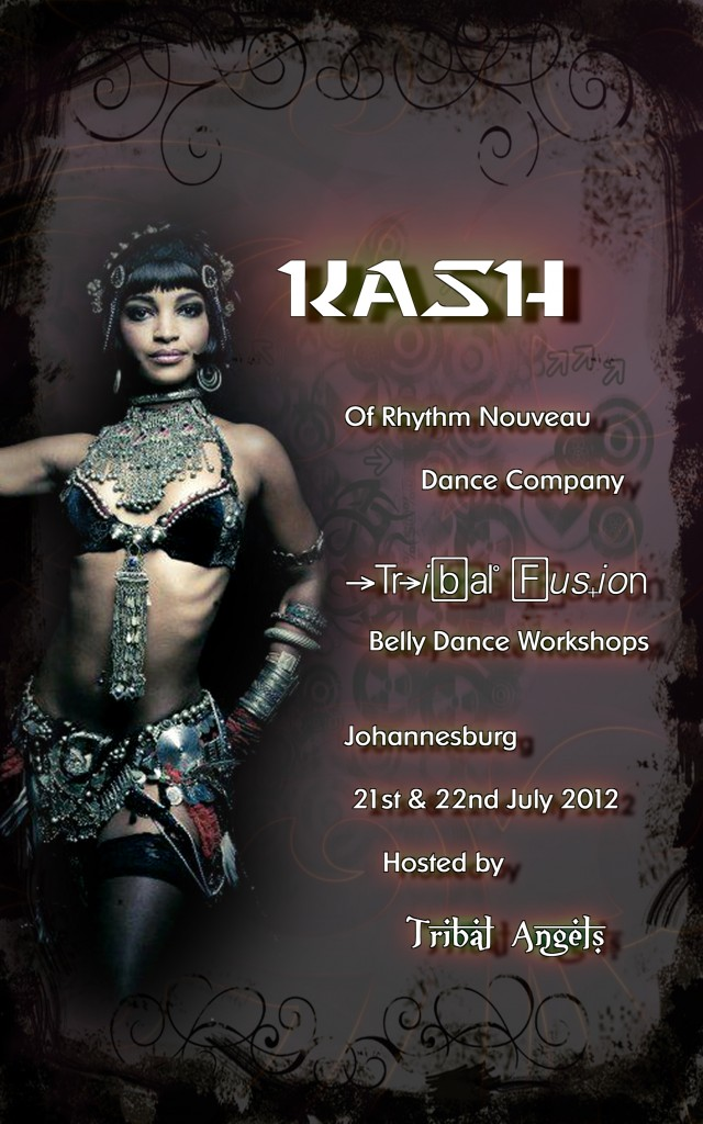 Kash Poster 640x1024 Tribal Fusion Workshops with Kash Athanatos in Johannesburg