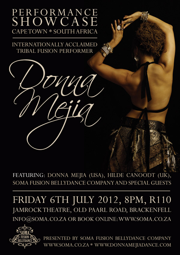 showPOSTER email Donna Mejia Performance Showcase by Soma Fushion Bellydance Company
