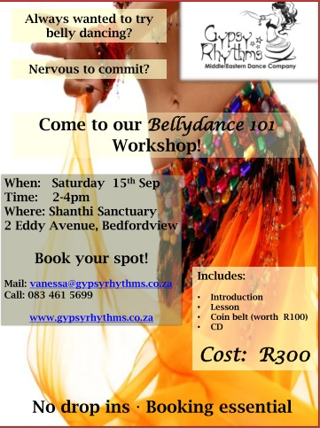 Bellydance 101 Bellydance 101 Workshop by Gypsy Rhythms